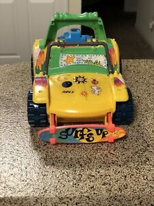 Vintage 1991 Tennage Mutant Ninja Turtles Car Yellow Mirage Studios Playmates