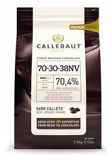 Callebaut Dark Chocolate Chips 70% 2.5kg Bulk Bag for baking, melting, fountains