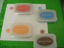 FOUR INK PADS - ARCHIVAL BRILLIANCE PIGMENT INK PADS - 4 DIFFERENT COLORS
