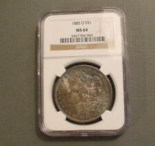 1885-O Morgan Silver Dollar *NGC MS64* Deep Dark Rainbow Toning
