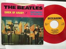 BEATLES SHEIK OF ARABY/ SEPTEMBER IN RAIN~NM RED WAX DECCAGONE PROMO PICTURE SLV