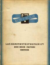 VINTAGE KOH-I-NOOR HARDTMUTH PENCIL CATALOG 1939 UK EDITION PDF FORMAT