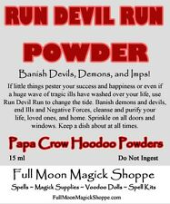 Run Devil Run Hoodoo Powder Repel Demons Devils Satan Stop Ills Attract Positive