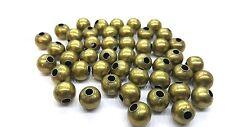 100 Piezas 8mm Bronce tono encontrar Beads-a6766