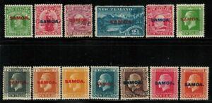Samoa #114-118,127-130,132-135 MH/Used(116,133)
