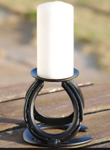 Horseshoe Candle Holder complete with Candle