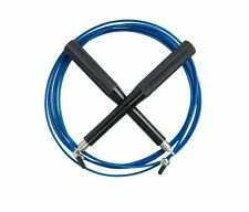 Blue Jump Rope Speed Cable Aluminum Extra Cable Exercise Gym Fitness Workout