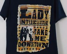Lady Antebellum Tee -  Take Me Downtown Country western Concert Tour T Shirt Med