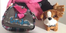 """Pet Carrier Purse & Bull Dog for American Girl Doll 18"""" Accessories SET Fits"""