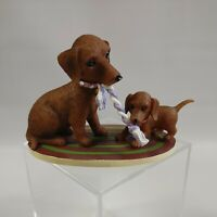 The Hamilton Collection Darling Dachshund You Tug In My Heart Strings Figurine