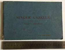 Singer Gazelle Original Owners Handbook Series IIIA