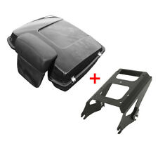 Chopped Tour Pak Pack Trunk Backrest + Luggage Rack For Harley Touring 2009-2013