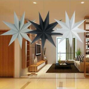 2pcs Open 30cm 3D Paper Star Wedding Party Hanging Bedroom Home Decoration Craft