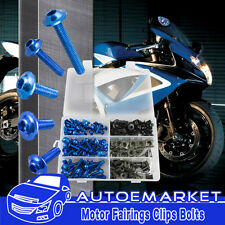 Brand Blue Fairing Bolt Kit Washer Fasteners Clip Screws Motorcycle Sportbike