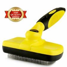 Grooming Brush Self-Cleaning Slicker Dog Cat Brush for Pets Long Short Hair 2019