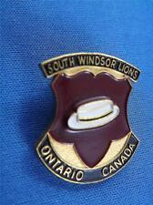 LIONS CLUB CANADA SOUTH WINDSOR VINTAGE HAT LAPEL PIN TOP HAT SOUVENIR COLLECTOR