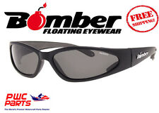BOMBER POLARIZED Floating Sunglasses CHERRY Bomb Matte Black w/ Smoke Lens CPMB3