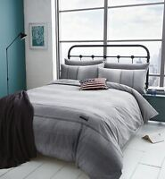 Catherine Lansfield Denim Grey Duvet Cover Single Double King Size