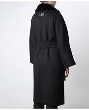 FENDI BLACK CASHMERE AND MINK COAT SIZE IT 46 UK14 RRP £4760