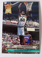 1992-93 Fleer Ultra #201 David Robinson Spurs Dunk Rank Basketball Card