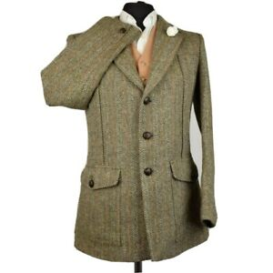 Harris Tweed Tailored DUNN & CO Country NORFOLK Hunting Jacket 38R  - RARE ITEM