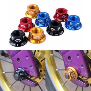 M10 Durable Track Wheel Nuts Bicycle BMX Fixie Axle Screw for Rear Hub 4Pcs