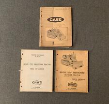 3 Vintage Case Tractor Parts Catalogs 420c Crawler 320 Terratrac W3 Tractor