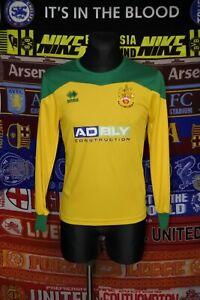 5/5 Hitchin Town adults S #3 long sleeve football shirt jersey trikot