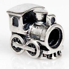 Genuine Solid 925 Sterling Silver Locomotive Train  Charm Bead