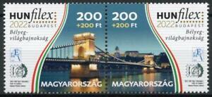 Hungary Bridges Stamps 2021 MNH HUNFILEX Budapest 2022 Stamp Shows 2v Set
