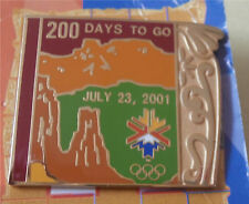 200 Days to Go July 23 2001 Salt Lake City Olympic Pin  #11 of 18 Pins New  #2
