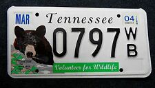 "USA Nummernschild Tennessee ""Volunteer for Wildlife"" mit Bär. 13388."