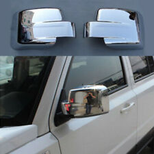 2PCS Chrome Rearview Side Door Mirrors Cover Trim Fit for Jeep Patriot 2011-2015