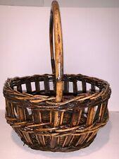 Wicker Rattan Decor Floral Arrangement Decoration Storage Basket with Handle