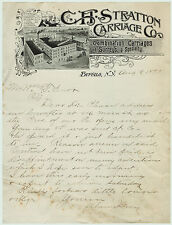 RARE 1893  Stratton Carriage Company  Buffalo NY  SUPER  Letterhead Billhead