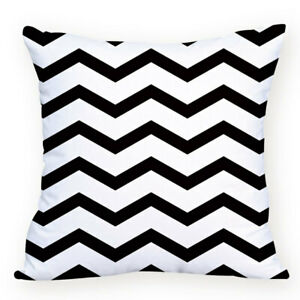 Black White Geometric Cushions 45x45cm Choose Cover Only Or Filled Cushion Decor
