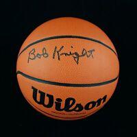 Bob Knight black Signed Autograph NCAA Basketball JSA COA Indiana Hoosiers Coach
