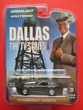 """GREENLIGHT HOLLYWOOD SERIES 10 """"DALLAS TV SHOW"""" 1978 CHEVY CORVETTE 1:64 SCALE"""