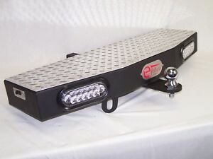 """36"""" Wide 2"""" Receiver Hitch Step Towing Extension with 2 - 6"""" LEDs"""