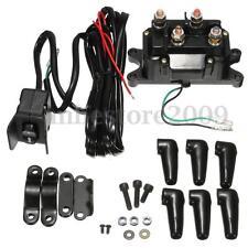 12V ATV UTV Solenoid Relay Contactor + Winch Rocker Thumb Switch Wiring Combo !