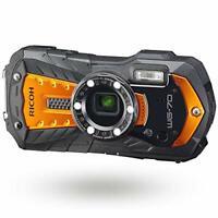 RICOH Waterproof Shockproof Digital Camera WG-70 Orange EMS w/ Tracking NEW
