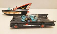 RARE CORGI GS 3 BATMOBILE & BATBOAT TRAILER 1973 BATMAN