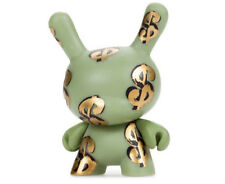 """Green Money Sign Case Exclusive 3"""" Dunny by Andy Worhol x Kidrobot Brand New"""