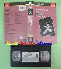 VHS Maria Callas DEBUTS A PARIS 19 decembre 1958 OPERA PARIS (CL2) no cd dvd lp