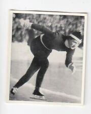 Vintage 1936 Sports Card Verné Lesche Finland Speed Skater World Champion