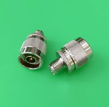 (5 PCS) Mini UHF Female to N Male Connector - USA Seller