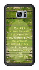 John 3:16 Weathered Wood For God So Love The World For Samsung Galaxy S7 G930 Ca