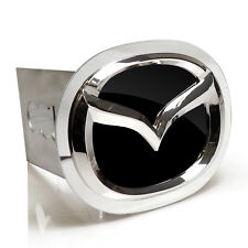 Mazda 3D Black Infill Chrome Logo Tow Hitch Cover