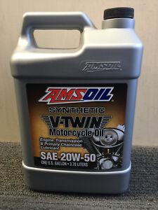 AMSOIL MCV V-TWIN 20W50 Motorcycle Oil (1 GALLON/ 3.78 Litres) HarleyDavidson HD