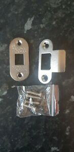 National Hickman chrome internal door standard latch face plate with fixings